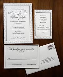 wedding invitation set traditional and black and white wedding invitation set