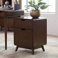 amazon two drawer file cabinet amazon com belham living carter mid century modern two drawer file