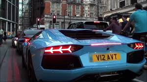 Blue Lamborghini Aventador - baby blue lamborghini aventador newport beach exhaust brutal revs