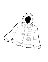 warm jacket in winter clothing colouring page colouring tube