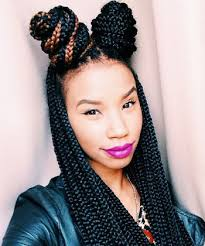 images of black braided bunstyle with bangs in back hairstyle 60 totally chic box braids hairstyles protective styles bun