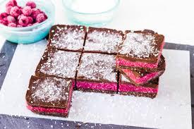raw chocolate raspberry slice dairy free egg free gluten free
