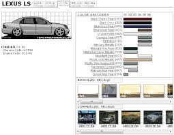 lexus paint colors lexus ls touchup paint codes image galleries brochure and tv