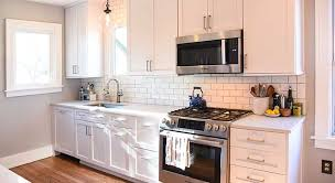 Small White Kitchen Cabinets Impressive Small Kitchen With White Cabinets Best Interior Design