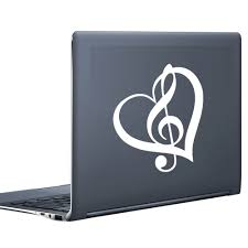 high quality music note stickers buy cheap music note stickers heart shaped musical note computer stickers adhesive vinyl wall decals removable notebook small sticker china