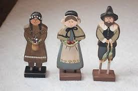 thanksgiving pilgrim figurines 10 inch turkey mouse pilgrim indian figures centerpiece thanksgiving