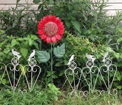 decorative metal garden art flower ideas empress of dirt
