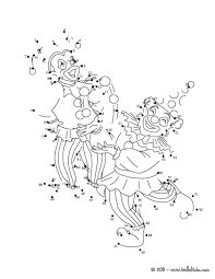 clowns dot to dot game coloring pages hellokids com