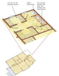 His And Her Bathroom Floor Plans A New Floor Plan Saves An Old House Fine Homebuilding