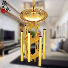 usd 23 72 feng shui ge medallion copper wind chimes hanging six