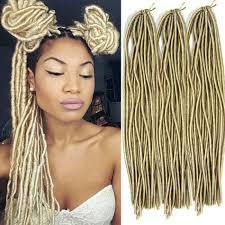 soul line pretwisted hair blonde faux locs synthetic twist braids fiber crochet hair