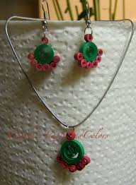 quilling earrings set all about quilling quilled earrings and necklace handmade