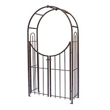 amazon com panacea products arched top garden arbor with gate