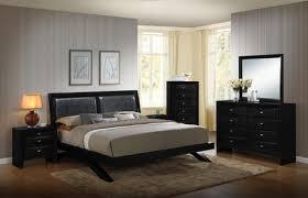 blemerey 110 black wood arch leg bed group king bed dresser