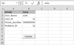how to update data one sheet to another sheet through vba in