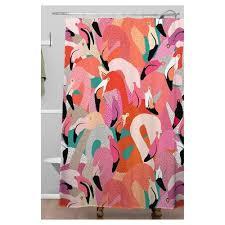 Flamingo Shower Curtains Pink Flamingo Shower Curtain Target