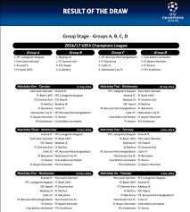 Jadwal Liga Chion Jadwal Lengkap Fase Grup Liga Chions 2016 2017 Okezone Bola