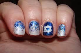 hanukkah nail image festival of lights glitter gradient hanukkah nails jpg
