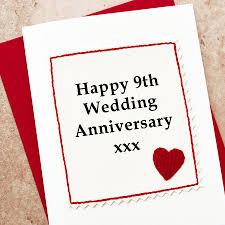 9th wedding anniversary gift handmade 9th wedding anniversary card by arnott cards