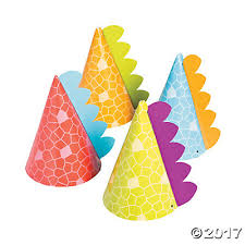 party hats dino party hats assortment