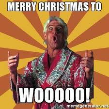 Merry Christmas Meme Generator - wellsuited ric flair christmas peachy merry to wooooo meme