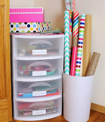 wrapping station ideas fabulous plastic drawer storage ideas for your home