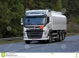 2016 volvo big rig white volvo fm tank truck on the move editorial image image
