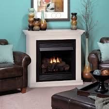 vail 26 inch white vent free gas fireplace mantel package vfd26fmw