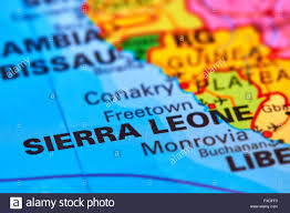 Africa On A Map by Sierra Leone Country In Africa On The World Map Stock Photo
