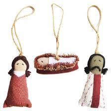 nativity ornament set of 3 thai
