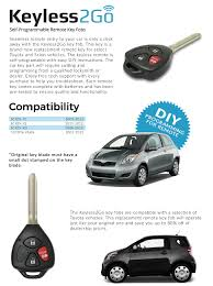 toyota yaris remote key not working amazon com keyless2go keyless entry car key replacement for