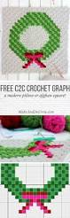 wreath corner to corner christmas crochet pattern make u0026 do crew