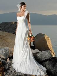 Wedding Dresses Prices 219 99 2017 Summer White Beading Satin Chiffon Beach Empire Wasit