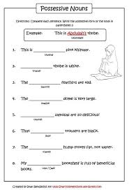 possessive nouns worksheet iman u0027s home