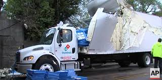 bud light truck driving jobs domino s truck crashes into overpass causes leavening pizza dough