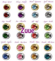 ear piercing earrings studex plus birthstones gold plated steel bezel set ear piercing