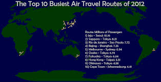 Cape Air Route Map by Mapping 10 Busiest Air Routes Of 2012 Wild About Travel