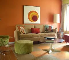 Living Room Colors That Go With Brown Furniture 60 Wall Color Ideas In Orange Naturinspirierte Design For All