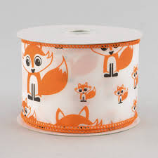 fox ribbon 2 5 white satin fox ribbon 10 yards rg1399 craftoutlet