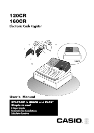 casio 160cr user manual 36 pages also for 120cr 130cr