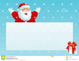 santa claus and gift box with christmas letter royalty free stock