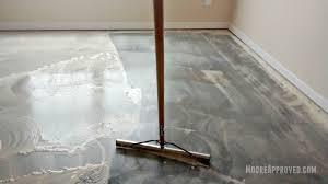 Laminate Floor Paint Workshop In Progress U2013 New Door Transom Window Concrete Floor