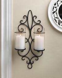 new fleur de lis french hurricane wall candle holder sconce metal