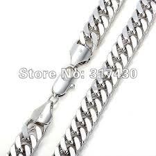 white gold men necklace images Wholesale low price heavy men 39 s necklace 14k white gold filled jpg