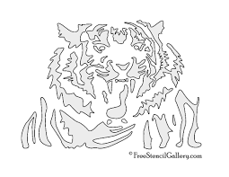 bats stencils free tiger stencil 03 free stencil gallery
