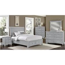 Indiana Bedroom Furniture by Bb26 002 Vaughan Bassett Furniture Triple Dresser Grey