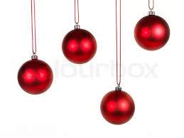 hanging ornaments isolated against a white background