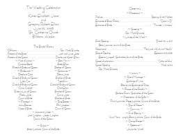 Sample Wedding Programs Wedding Ceremony Program Template Finding Wedding Ideas