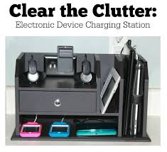 Electronic Desk Organizer A Few Simple Hacks Creates A Charging Station That Solves All Your