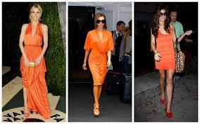 orange dress what colour shoe with and orange dress i talk fashion